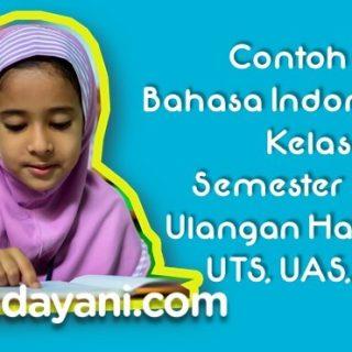 Soal Bahasa Indonesia UTS UAS UKK Kelas 1 SD Semester 1 2 + Kunci Jawaban