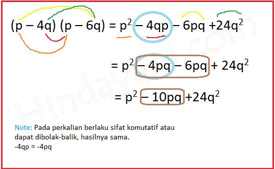 Perkalian 2 bentuk aljabar dengan 2 variabel bebas