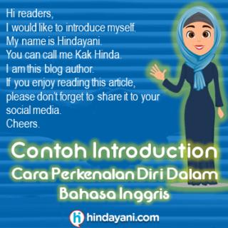 Contoh Introduction Cara Perkenalan Diri Dalam Bahasa Inggris