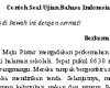Contoh Soal Ujian Bahasa Indonesia Kelas 4 SD MI