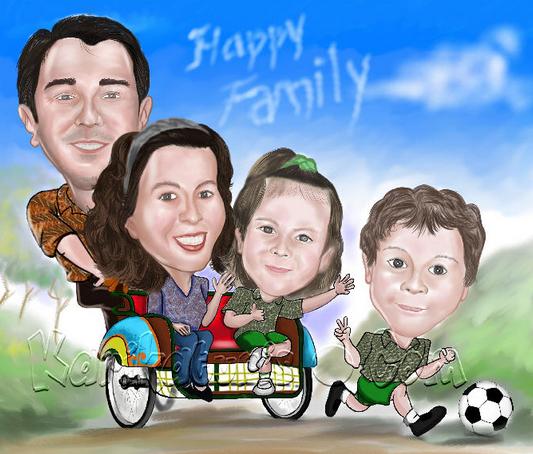 gambar keluarga delon