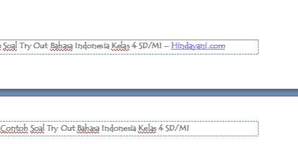 Contoh Soal Try Out Bahasa Indonesia Kelas 4 SD MI