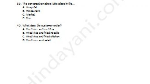Contoh Soal Try Out Bahasa Inggris Kelas 6 SD MI