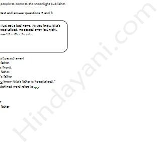 Contoh Soal Ujian Nasional UN Bahasa Inggris Kelas 9 SMP MTs
