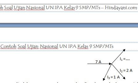 Contoh Soal Ujian Nasional UN IPA Kelas 9 SMP MTs