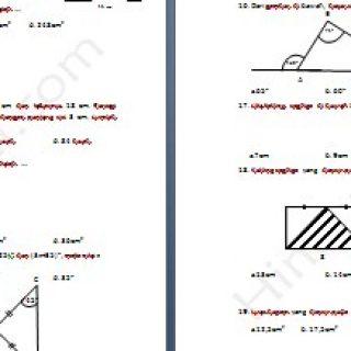 Contoh Soal try Out Matematika Kelas 7 SMP MTs