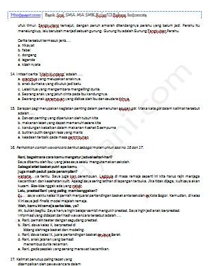 Bank Soal SMA MA SMK Kelas 10 Bahasa Indonesia – Hindayani.com