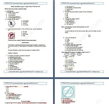 Contoh Soal Bahasa Inggris - English Kelas 7 SMP dan MTs - Hindayani.com