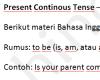 Materi Bahasa Inggris TOEFL Present Continous Tense