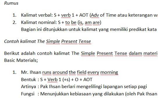 Materi Bahasa Inggris dan TOEFL Basic Materials