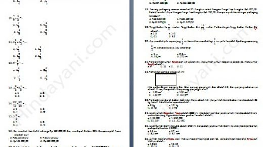 Prediksi Soal Matematika Kelas 5 SD dan MI - Hindayani.com