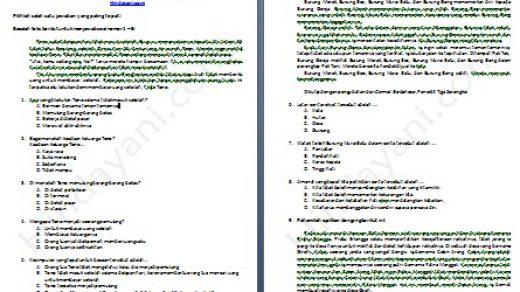 Prediksi Soal UASBN Bahasa Indonesia Kelas 6 SD dan MI