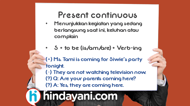 Present Continuous Tense - Hindayani.com