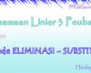 Persamaan Linier 3 Peubah dengan Metode Eliminasi - SUbstitusi
