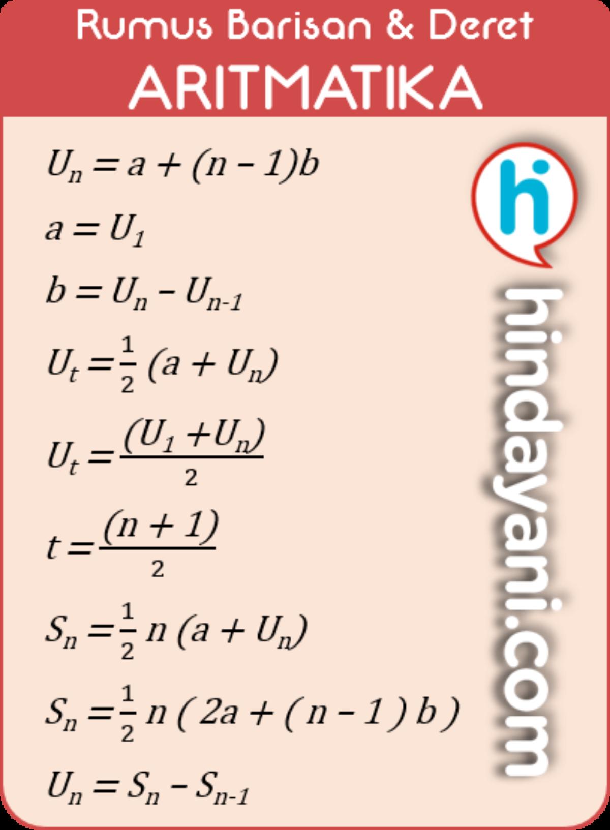Kumpulan Rumus Barisan Deret Aritmatika Geometri Contoh Soal