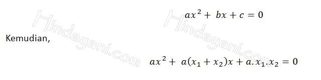 Rumus Jumlah dan Hasil Kali Akar Persamaan Kuadrat 2