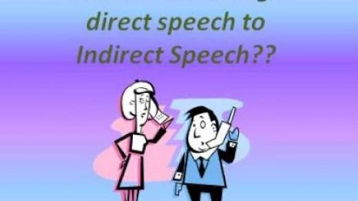 Cara menggunakan direct and Indirect speech plus contoh