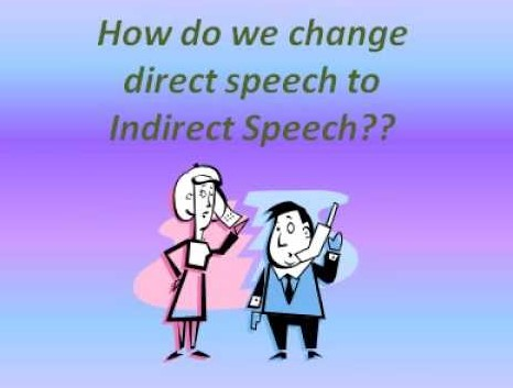 Cara menggunakan direct and Indirect speech plus contoh