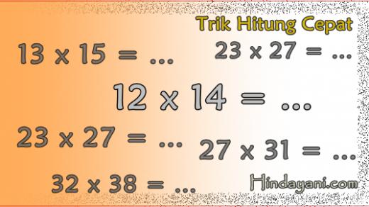 Trik Hitung Perkalian Cepat Bilangan Berselisih 2