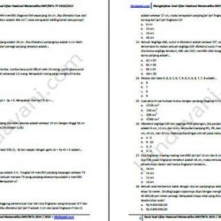Bank Soal Ujian Nasional Matematika SMP