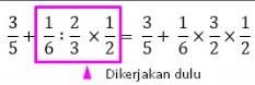 jumlah bagi dan kali pada pecahan