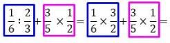 jumlah bagi kali pada pecahan