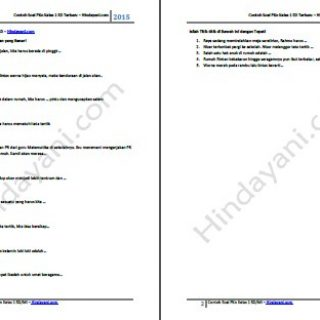 Contoh Soal PKn Kelas 1 SD Semester 1 dan 2