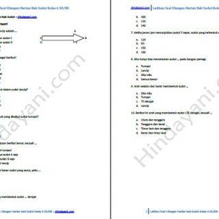 Contoh dan Latihan Soal Ulangan Bab Sudut Kelas 6