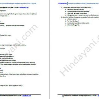 Rangkuman Materi dan contoh soal ulangan PKn 6 SD