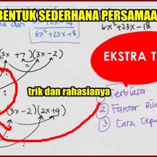 Trik Menyederhanakan Persamaan Kuadrat