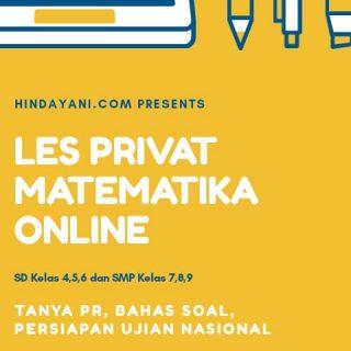 hindayani.com les privat matematika online kuning