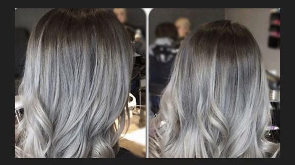 Trend Warna Rambut 2021 - Grey Ombre