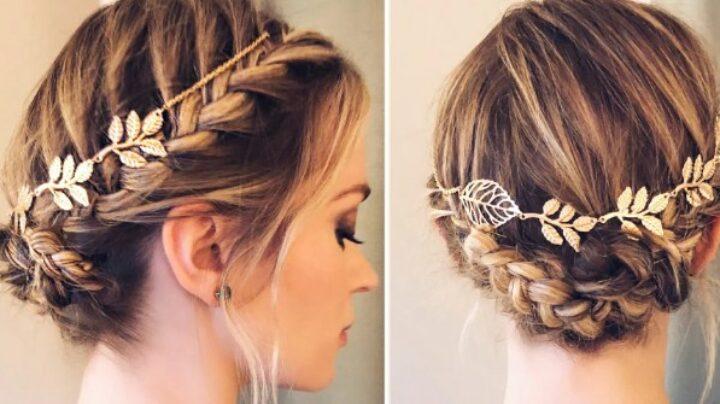 Gambar 2 - Gaya rambut untuk rambut tipis - Braided Crown