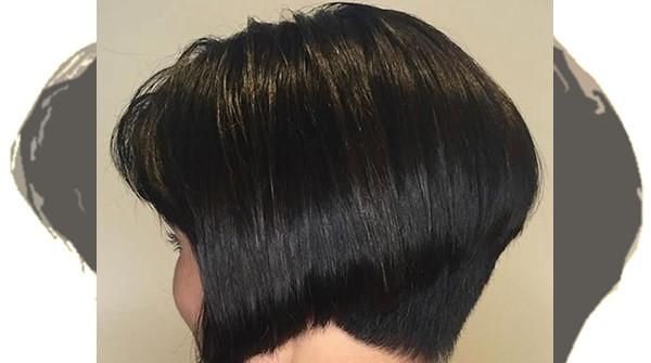 model rambut tipis biar kelihatan tebal The wedge cut
