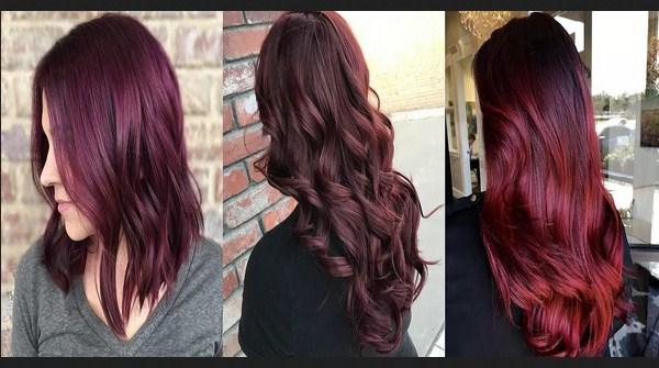 Warna rambut burgundy