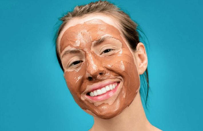 Masker untuk kulit kusam dan gelap dari bahan alami - Cokelat